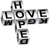 Hope love dice Royalty Free Stock Photography