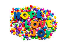Hope love joy Royalty Free Stock Photography