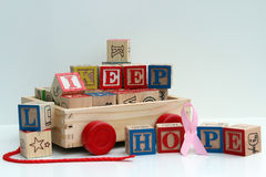 Hope message in wooden blocks Royalty Free Stock Photography