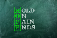 Hope Pain Royalty Free Stock Images
