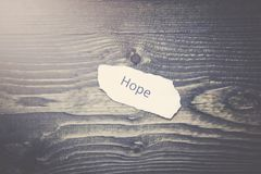 Hope on paper Royalty Free Stock Images