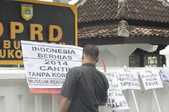 HOPE POSTER LOOK PRETTY WITHOUT CORRUPTION IN INDONESIA Stock Image
