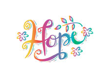 Hope. Poster Vector lettering Hope. Hand lettering calligraphy Royalty Free Stock Photo