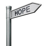 Hope road sign to bright future Stock Photos