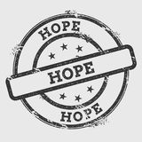 HOPE rubber stamp isolated on white background. Grunge round seal with text, ink texture and splatter and blots, vector illustration Stock Photo