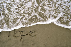 Hope in the sand Stock Image