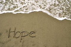 Hope in the sand Stock Photo