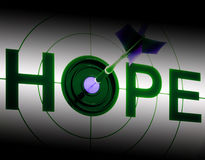 Hope Shows Sign Of Prayer And Faith Royalty Free Stock Photos