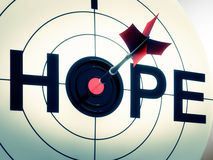 Hope Shows Sign Of Wishing And Hoping. Hope Showing Sign Of Wishing And Hoping Royalty Free Stock Images