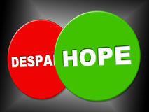 Hope Sign Means Wanting Hoping And Message Royalty Free Stock Photo