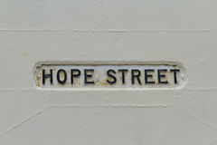 Hope street, sign Royalty Free Stock Image