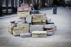 Hope Street 'Suitcases', Liverpool stock image