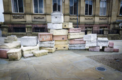 Hope Street 'Suitcases', Liverpool Royalty Free Stock Image