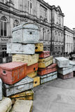 Hope Street Suitcases Royalty Free Stock Image