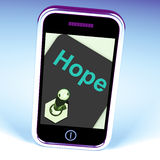 Hope Switch Phone Shows Wishing Hoping Wanting. Hope Switch Phone Showing Wishing Hoping Wanting Stock Image