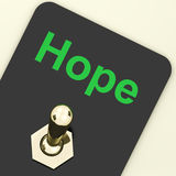Hope Switch Shows Wishing Hoping Wanting. Hope Switch Showing Wishing Hoping Wanting Stock Photo