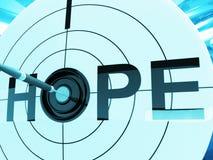Hope Target Shows Prayer And Faith Hopeful Stock Image