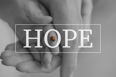Hope text over conceptual image Stock Photography