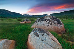 Hope valley Boulders. Hope Valley is accessible through Highway 89 in the Tahoe area in California Stock Photo