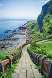 Hope Valley Coast Landscape from Badouzi Coastal Park in Zhongzheng District, Keelung, Taiwan. Royalty Free Stock Image
