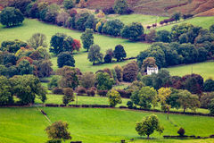 Hope Valley. Looking down on Castleton Derbyshire England Stock Photography