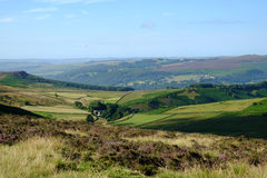 Hope Valley from Stanage edge, Peak District, Derbyshire Stock Image