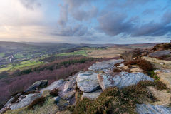 Hope Valley. Sunset in Hope Valley, Peak district Stock Images