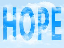 Hope in the symbol Stock Images