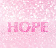 Hope word for breast cancer awareness Stock Images