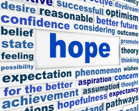 Hope word clouds poster Royalty Free Stock Photo