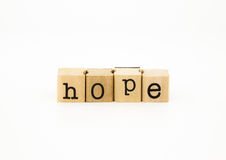 Hope wording, desire and expectation concept Stock Image