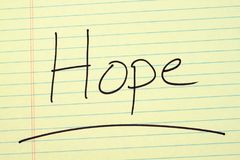 Hope On A Yellow Legal Pad Stock Images