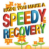 Hope you make a speedy recovery message Stock Photos