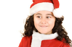 Hopeful chirstmas girl stock images
