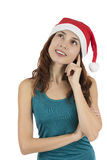 Hopeful Christmas woman Royalty Free Stock Photography