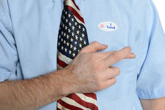 Hopeful Patriot Voter Stock Photo