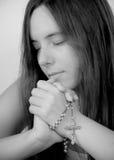In Hopeful Prayer Stock Images