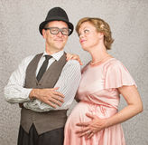 Hopeful Pregnant Couple Stock Image