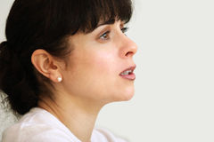Hopeful woman. Beautiful Hopeful woman Royalty Free Stock Photo