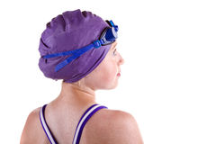 Hopeful young competitive swimmer Royalty Free Stock Image