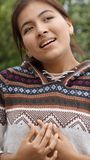 Hopeful Youthful Girl Youngster. A young Peruvian female teen Royalty Free Stock Images