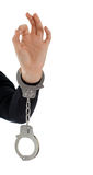 Hopefully - hand in handcuffs Stock Photography