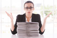 Hopeless businesswoman. Stock Photos