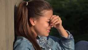 Hopeless Crying Teen Girl stock footage