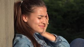 Hopeless Crying Teen Girl Stock Photos