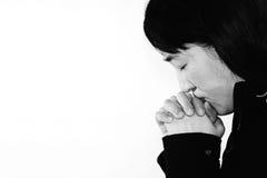 Hopeless woman praying Royalty Free Stock Photography