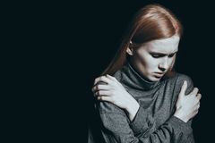 Hopelessness overwhelming a girl Royalty Free Stock Photos