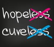 Hopeloze cureless vector illustratie