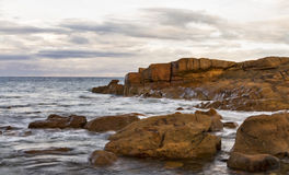Hopeman, Autumn Rocks Photo stock