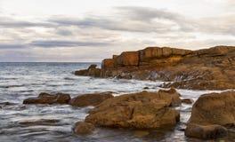 Hopeman, Autumn Rocks Stock Photo
